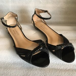 Talbots Patent Black Leather Sandals